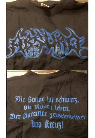 """ABSURD """"blue logo""""-t-shirt M"""