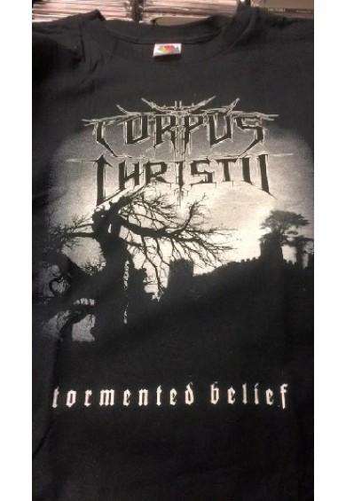 """CORPUS CHRISTII """"tormented belief""""-t-shirt XL"""