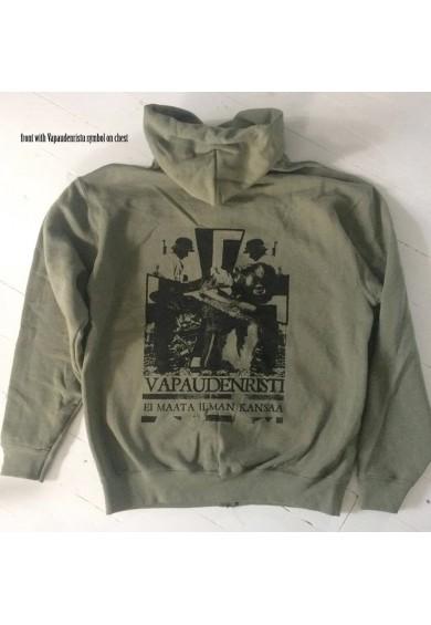 "VAPAUDENRISTI ""green"" hoodie XL"