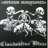 "CLANDESTINE BLAZE / SATANIC WARMASTER ""split"" cd"