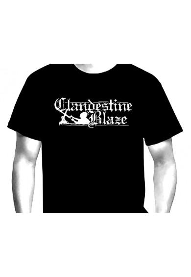 """CLANDESTINE BLAZE """"LOGO""""  t-shirt S"""