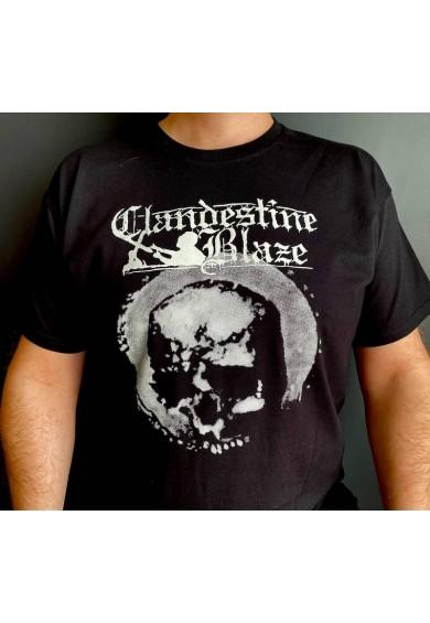"""CLANDESTINE BLAZE """"Secrets of Laceration""""  t-shirt M"""