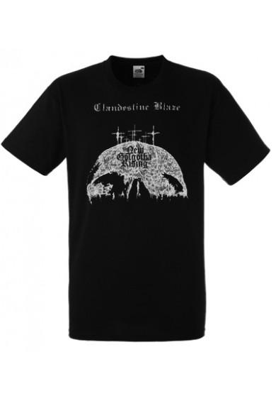 "CLANDESTINE BLAZE ""New Golgotha Rising""  t-shirt S"