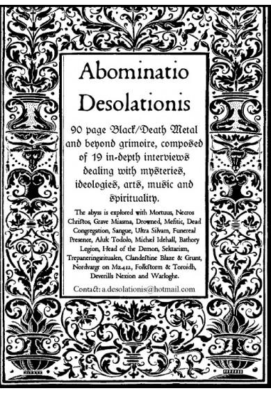 ABOMINATIO DESOLATIONIS #1 zine