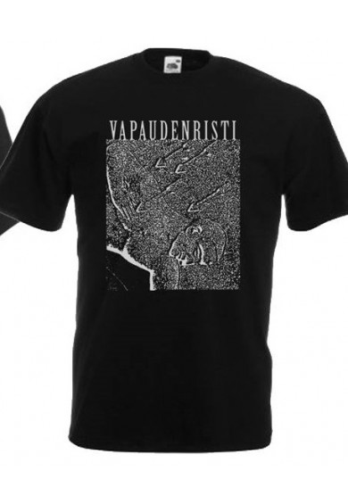 """VAPAUDENRISTI """"Pro patria mortui"""" t-shirt S (black)"""