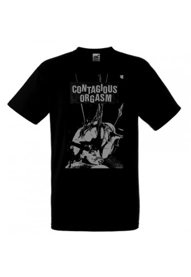 "CONTAGIOUS ORGASM ""black"" t-shirt XL"